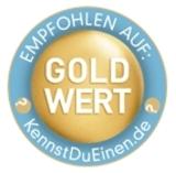 Das Gold-Wert Siegel stellt eine Alternative zum Widget dar