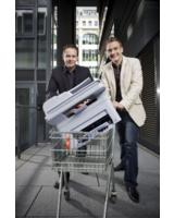 Die Käuferportal-Gründer: Robin Behlau (l.) und Mario Kohle. Foto: Manuel Krug