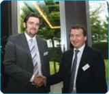 Referent Thelen und easycash Managing Director Marc Birkner, der auch Teile der Moderation übernahm.