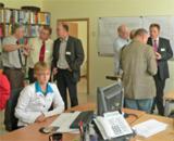 Oberbürgermeister Dr. Bernhard Matheis (links im Bild) im Gespräch mit dem PTI-Vorstand