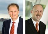 Peter Sinn, Corporate Planning AG (links im Bild) und Hermann Hebben, Cubeware GmbH (rechts im Bild)