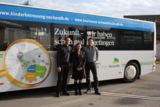 Der Neckar-Alb Bus-Zug, im Bild mit Andrea Diewald, Marc Hogenmüller und Bernd Kugel