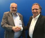 iTech-Geschäftsführer Daniel Laux (links) und DGN-Geschäftsführer Armin Flender (rechts)