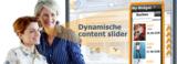 Die bewegten Bilder des Dynamic Slider erregen die Aufmerksamkeit potentieller Kunden.