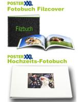 Hochzeitsfotobuch in Natur-Leinen und Fotobuch mit Filzcover bestechen durch Extravaganz