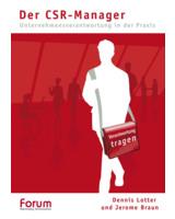 """""""Der CSR-Manager """" - Das Buchcover. Abdruck honorarfreu möglich."""