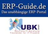 """Logo des ERP-Portal """"ERP-Guide.de"""" und des Herstellerunabhängigen ERP Auswahl Beraters UBK GmbH."""
