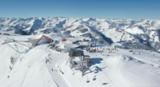 Blick auf das Skigebiet der Superlative