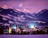 Winterstimmung im Tal bei Mondschein