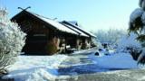Winterliche Saunalandschaft / Quelle: Spreewelten Sauna- und Badeparadies, Lübbenau