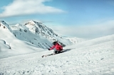 Schifahrer genießen die breiten Pisten in Kitzbühel
