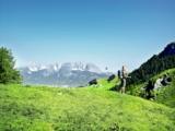 Wandern mit Blick auf den Wilden Kaiser (©medialounge)