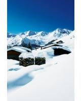 Verschneite Hütten