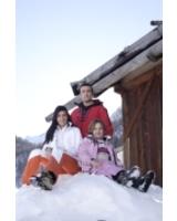 Familie auf Schneeberg