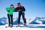 Skifahrer mit Aussicht