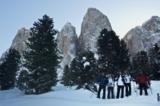 Skigruppe in Villnöss
