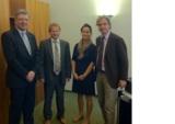 B. Rath, Günther Schweiger (GF Speedmaster),  C. Lang (BERA), Dr. Philip Wächter (GF Speedmaster)