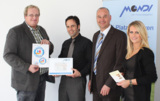 R. Groer (Richard Groer Stiftung), M. Leistner (MONDI), A. Heinemann (MONDI), I. Meyer (MONDI)