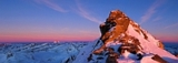 Sonnenuntergang am Gletscher