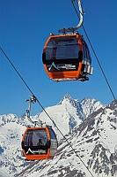 Gondeln im Skigebiet Großglockner