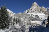 Winterlandschaft in Corvara