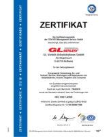 Das Zertifikat beweist den hohen Qualitätsstandard des GL Verleih.