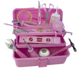 Pink Toolbox - all das Werkzeug in PINK
