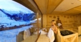 Sauna mit Gletscherblick