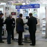 Hier sieht man den Pressestand von PCE-Deutschland GmbH auf der CONTROL 2011 in Stuttgart