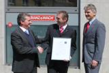 v.li: Prof. Dr. Stehr (GGS), Dr. Eisenbeiß (FRANZ&WACH), R. Rück (GGS)