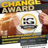 Ilja Grzeskowitz präsentiert den Change Award am 25.08.2015 in Berlin.