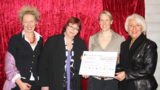 V. l.: Bettina Charlotte Belker, Prof. Barbara Schwarze, Maresa Harting-Hertz, Margrit Harting.