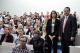 Begrüßten die Erstsemester in Kiel (v.l.n.r.): Dr. Gisela Nissen-Baudewig und Dr. Detlef Reeker
