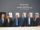 Urkundenverleihung auf der IMM Cologne 2014