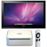 Betrieb eines Apple Mac mini an einem digitalen Fernseher über DVI oder VGA.