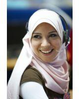 Ägyptische Call Center Mitarbeiterin