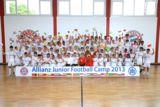 Die Teilnehmer mit Holger Badstuber (FC Bayern München) und Christian Deuringer (Allianz SE).