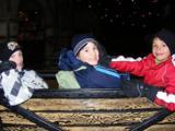 Joshua, Felix und Mario in gespannter Erwartung
