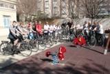 Spanischschüler bei Fahrradtour zur Albufera