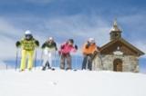 Skifahrer vor der Abfahrt