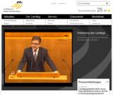Screenshot Startseite Landtag von Baden-Württemberg