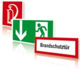 Rettungsschilder, Brandschutzzeichen und Feuerwehrschilder