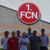 von rechts u.a.: David Bernhard (Projektleiter Easy2Coach), Rainer Zietsch (Leiter NLZ)