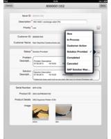 Screenshot der SAP-App von ecenta