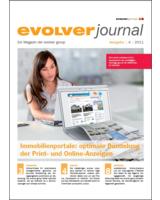 """Titelbild des Kundenmagazins """"evolver journal"""" (Ausgabe 4/11)"""