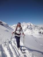 Skifaherin im Gelände