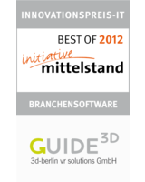 "BEST OF Zertifikat für ""Guide3D - 3D-Gebäudenavigation für multiple Geräte"