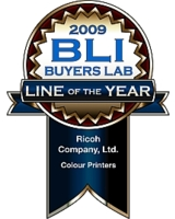 "BLI zeichnet Ricoh erneut mit dem Award ""Most Outstanding Colour Printer Line of the Year"" aus"