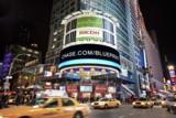 Wird zu 100 Prozent mit Solarenergie betrieben: das Ricoh Eco Board auf dem New Yorker Times Square