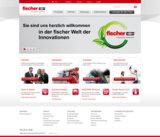 Screenshot der Webseite www.fischer.de